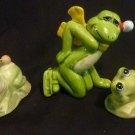 3 - Frog Night Ceramic Aquarium frogs