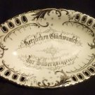 "German Candy Dish - Oval - 9 1/4"" Long"