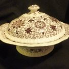 "Mason's Patent Ironstone China ""Bow Bells"" Serving Dish & Cover c. 1930's"