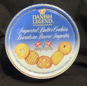 Danish Legend Imported Butter Cookies Canister
