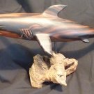 "Great White Shark 15"" Phillipino Acacia Wood"