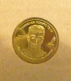 2002 Coca-Cola Canadian Olympic Team Rob Blake Coin