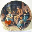 """""""Grossvater Erzählt eine Geschichte"""" by Albert Anker, 9"""" Plate, Neuchâtel, Swiss"""