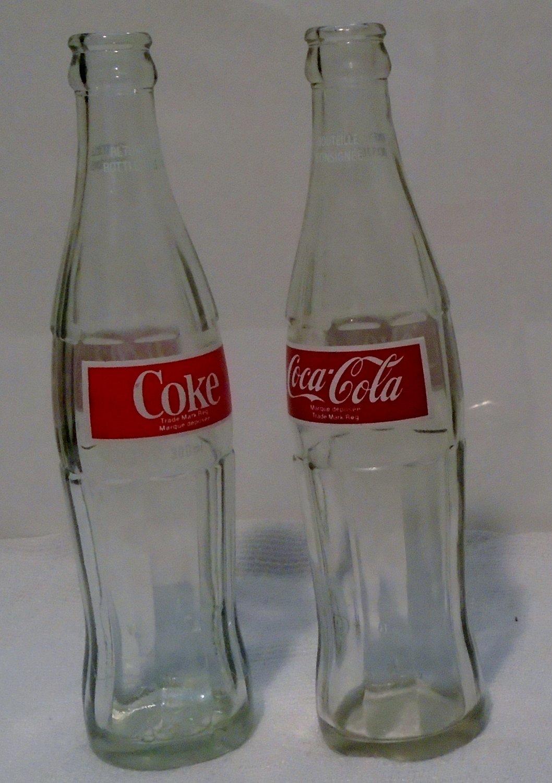 2- 300ml Coca-Cola bottles (Red & White Silk screening)