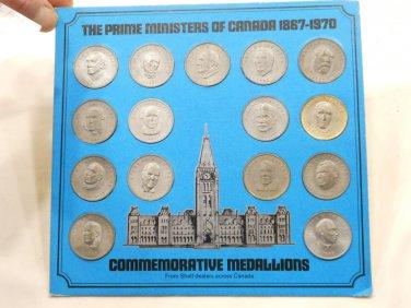 Prime Ministers of Canada Commemorative Medallions