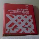 Mix & Match Inks Technical Formulation (cross reference) Manual