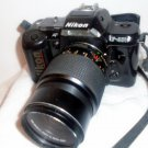 Nikon AF F-401s 35mm Camera with Konica Hexar AR 135mm F3.5 Lens Field Bag