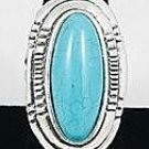 Oval Turquoise shield ring