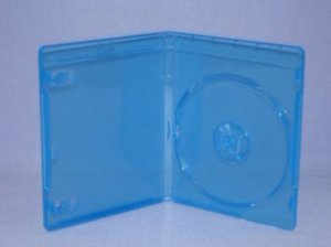 100 pcs CD/DVD/Blu-Ray Blue Single Case for PS3/Movie