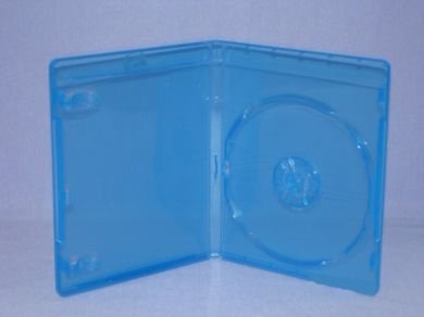 50pcs CD/DVD/Blu-Ray Blue Single Case for PS3/Movie