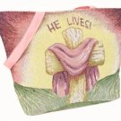 *Sale* He Lives Tapestry Tote Bag