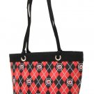 South Carolina Gamecocks Diamond Plaid Tote Bag