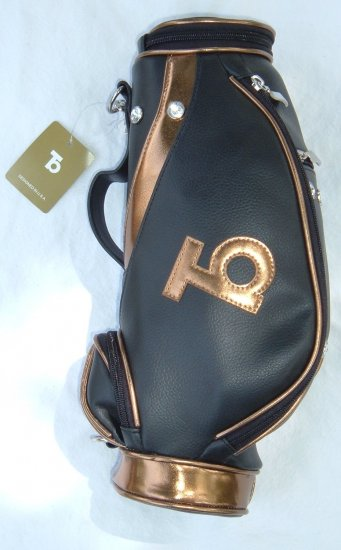 Faux Leather Mini Golf Handbag Gold or Silver