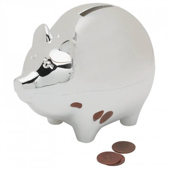 STERLINGCRAFT SILVERPLATED PIGGY BANK