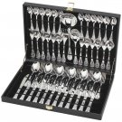STERLINGCRAFT 51PC SILVERPLATED FLATWARE SET W/RIBBON DESIGN
