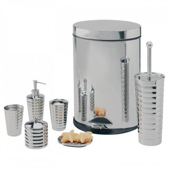 WYNDHAM HOUSE 7PC STAINLESS STEEL BATHROOM SET