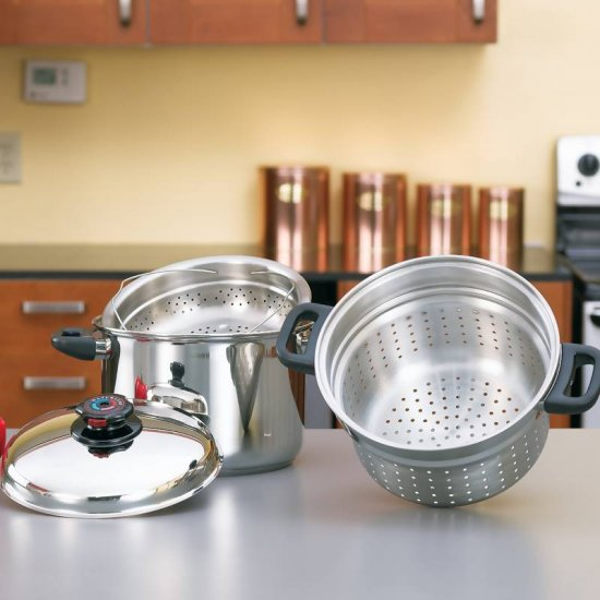 STEAM CONTROL 8QT STAINLESS STEEL SPAGHETTI COOKER