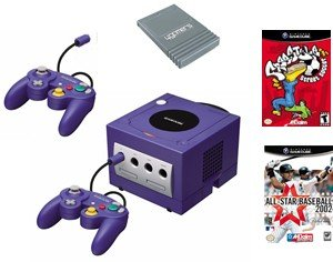 Nintendo GameCube Variety Bundle - 2 Games, 2 Controllers, Memory Card and More