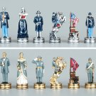 Pewter Civil War Chess Set