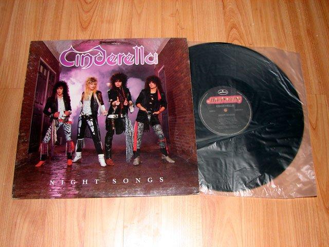CINDERELLA NIGHT SONGS VINYL LP RECORD