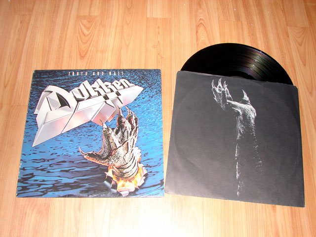 DOKKEN TOOTH AND NAIL VINYL LP RECORD