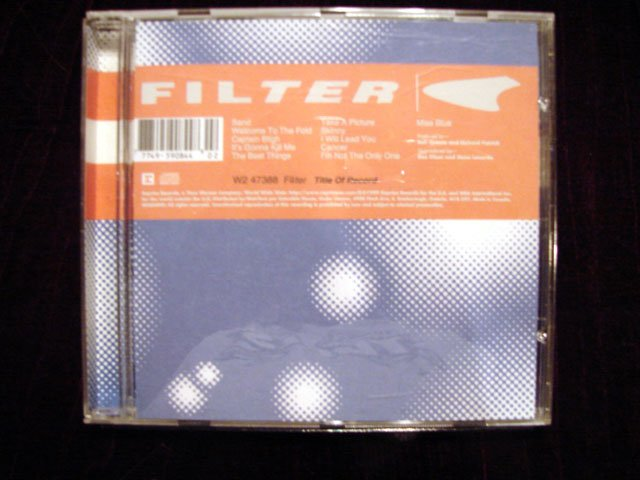 FILTER TITLE OF RECORD CD