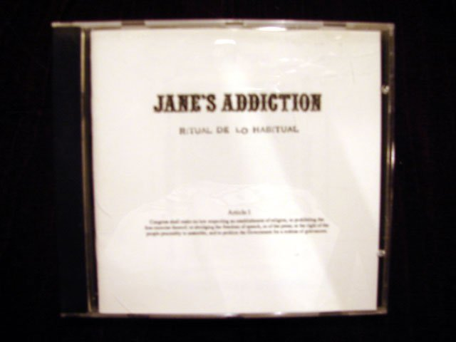 JANE'S ADDICTION RITUAL DE LO HABITUAL CD