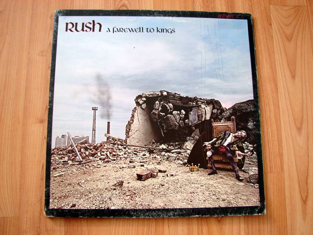 RUSH A FAREWELL TO KINGS VINYL LP RECORD