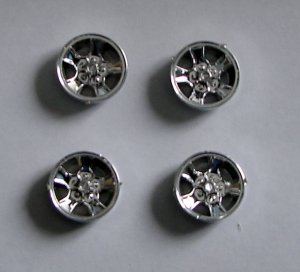 CHEVY FACTORY RALLY WHEELS 1:24 - 1:25