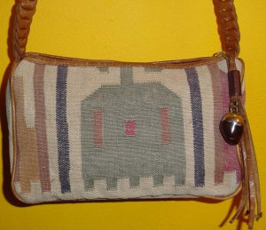 LEATHER + Stitched Cloth PURSE