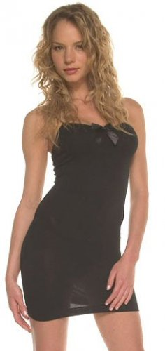 Spaghetti Strap Mini Dress with Front Bow - New