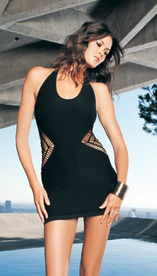 Halter Seamless Crochet Side Halter Mini Dress - New