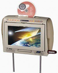 9.2-inch TFT-LCD Headrest all in One Car, DVD Player, Wireless IR With USB SD/MMC Card Reader