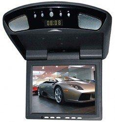 8 Inches Flip Down TFT LCD Monitor, Built-in Digital Quartz Clock, TV