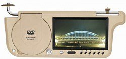 7 inches Sun Visor Monitor, Built-in DVD player, FM, New TFT LCD Monitor