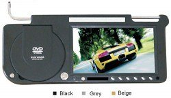 8.5 inches Sun Visor Monitor/TV, Built-in DVD player, FM, Built-in Speaker & Headphone Slot