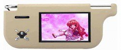 7 inches Sun Visor Monitor, TFT LCD Screen, PAL/NTSC System