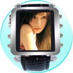 Mens Metallic Watch MP4 Player 2GB - 1.5inch OLED Screen