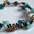 Sweet Trinity Crystal Bracelet (Turqoise/Smoked Topaz/Indicolite)
