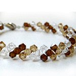 Glitters (Brown) Crystal Bracelet