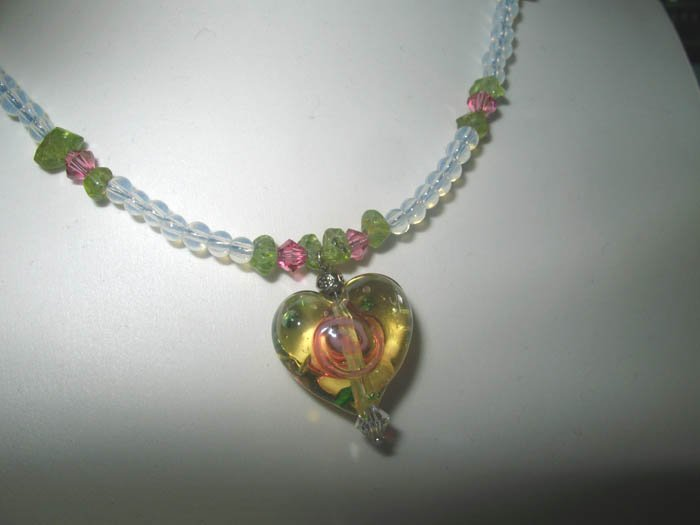Glassy Heart Necklace