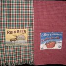 Christmas Towels w/label applique E-Pattern EC