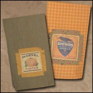 Homespun Towels Reproduction Label Applique EC