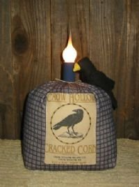 Reproduction Feedsack Crow Lamp EC