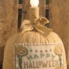 Reproduction Halloween Postcard Lamp EC