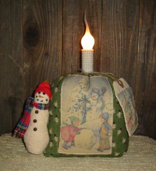 Snowman Postcard Lamp EC