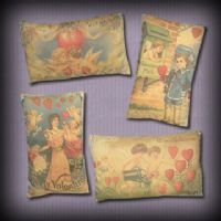 Vintage Valentine Pillows EC