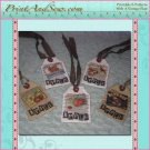 Printable Fabric Hang Tags - Vintage Apples EC
