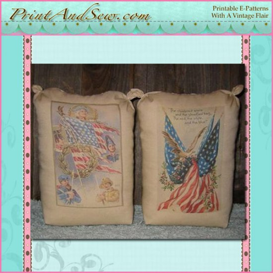 Americana Reproduction Postcard Feedsack Bags EC