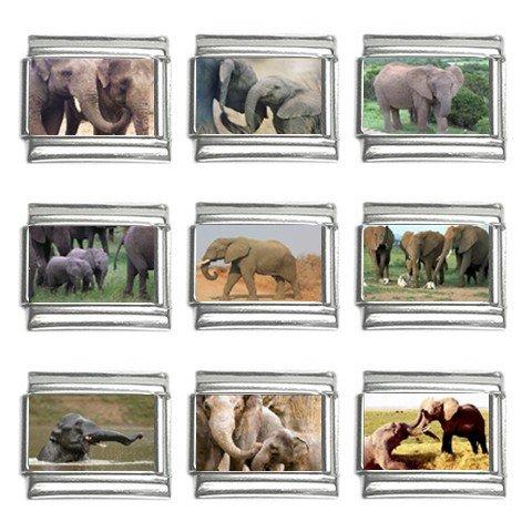 Italian Charm 9 pack 9mm Elephants 13320161